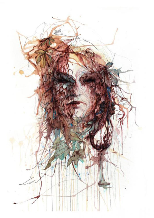 Carne Griffiths Uses Tea and Ink to Create Artistic Masterpieces