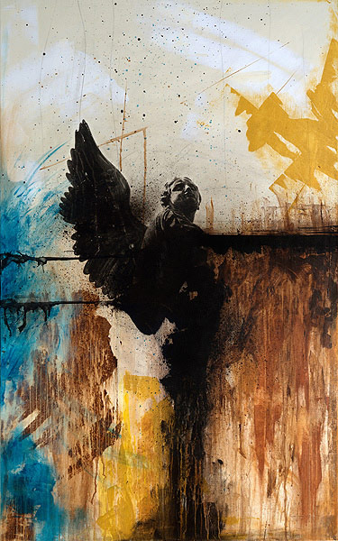 Graphic Weaponry Mixed Media Paintings By Christopher
